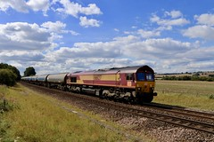 66127 Slitting Mill UWC 08 Sep 19 (doughnut14) Tags: 66127 slitting 6e68 kingsbury rail freight diesel loco cum tea humber db derbyshire shed class66 midland oldroad