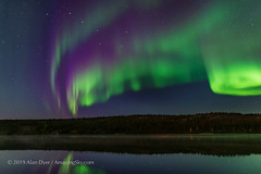 Auroral Colours in Twilight (Amazing Sky Photography) Tags: aurora colours northernlights madelinelake ingrahamtrail twilight yellowknife nwt curtains lake water bigdipper autumn
