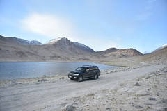 Toyota Land Cruiser 200 at Pamir Highway, Tajikistan, GBAO