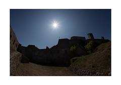 la citadelle (north side) (Armin Fuchs) Tags: arminfuchs nomansland citadelle sisteron sun sky blue fisheye anonymousvisitor thomaslistl wolfiwolf jazzinbaggies