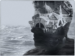Dubrovnik on my mind (marianna armata) Tags: monochrome composite collage mariannaarmata dubrovnik croatia europe old young man youth city water sea approved