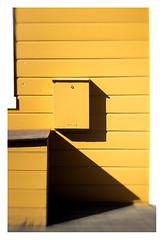 Yellow and shadow (leo.roos) Tags: ljugarn ljugarnssemesterbyandcamping cabin huisje cottage holidayhome yellow shadow wood hout arty abstra geel crea schaduw gotland sweden sverige swedengotlandspring2019 zweden a7 emilbuschagrathenowneokinof16f50mm neokino emilbuschneokino5016 bauerselectons 16mmprojector 1936 projectionlens darosa leoroos