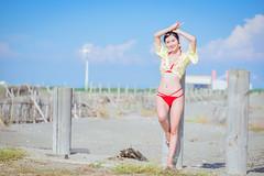 DSC_8793 (tingyangke) Tags: 人像攝影 人像 portrait 外拍 台灣 taiwan 彰濱 海邊 d750 85mm 定焦 比基尼 藍天