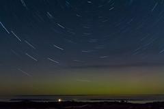 Star Trails and the Green Glow of the Aurora Borealis_95 (pixquik) Tags: startrails stars night nightphotography nightshots nightsky northernlights auroraborealis aurora leelanaucounty michiganusa