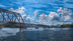 Bridge to Anywhere Dreamscape Series (Ann Kunz) Tags: composite lake abstract surreal bridge water clouds