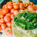 Marinated Cucumbers With Fresh Tomates