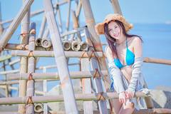 DSC_8709 (tingyangke) Tags: 人像攝影 人像 portrait d750 85mm 定焦 外拍 彰濱 比基尼 陽光 海邊