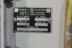 SAC_0097 General Electric J-73 turbojet engine nameplate (kurtsj00) Tags: sac museum strategic air command