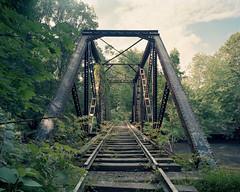 Rahway Valley Railroad (devb.) Tags: 4x5 largeformat chamonix045n2 75mm ektar rahwayvalleyrailroad rvrr rahwayriver springfield nj