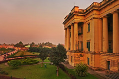 Gradually fading.... (Lopamudra !) Tags: lopamudra lopamudrabarman lopa landscape hazarduari palace murshidabad westbengal india islamic artistic architecture twilight nightfall dusk evening colour color colours colourful structure building history historical nawab bengal beauty beautiful picturesque