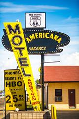 American Owned (Thomas Hawk) Tags: america americanamotel newmexico route66 tucumcari usa unitedstates unitedstatesofamerica motel neon fav10 fav25 fav50 fav100