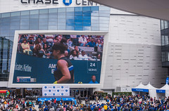 us open women's finals (pbo31) Tags: sanfrancisco california city color nikon september bayarea 2019 boury pbo31 d810 over missionbay chasecenter blockparty tennis architecture contemporary game sport blue people tv screen tron jumbo basketball arena warriors nba goldenstate