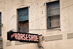 Horseshoe San Francisco (savedbytheart) Tags: hotel bar san francisco neon sign artdeco architecture vintage rundown