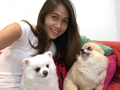 good morning (ChalidaTour) Tags: thailand thai asia asian girl femme fils chica nina teen twen sweet cute sexy petite slender slim portrait dogs puppies smile white
