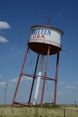 The Leaning Tower Of Britten (ricko) Tags: watertower leaning groom texas route66