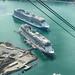 Cruise ships in Juneau harbor, AK