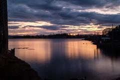 DSCF4688 (FNshutter) Tags: fujifilmx100f x100f dusk reflections light cranes victoria bc clouds harbour