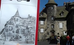 France, Cantal, Salers (pirlouit72) Tags: france cantal salers sketch drawing dessin croquis urbansketch urbansketcher urbansketchers carnetdevoyage