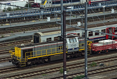 SNCB diesel shunter No. 7745 at Brussels on 28 Aug 2019 (Trains and trams eveywhere) Tags: siemens sncb belgium benelux railways trains brussels locomotive electric station doubledecker bruxelles
