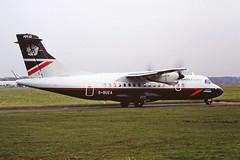 G-BUEA ATR42 British airways CVT 01-02-95 (cvtperson) Tags: gbuea atr42 british airways coventry airport cvt egbe