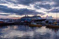 DSCF4680 (FNshutter) Tags: victoria fujifilmx100f x100f light cruise ship dusk reflections clouds boats port pier