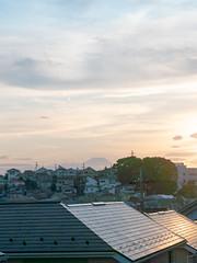 台風一過 / evening (kasa51) Tags: aftertyphoon mtfuji 台風一過 富士山 sky cloud yokohama japan suburb evening sunset