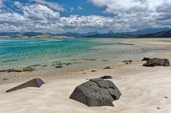 Whangapoua Harbour (Tjaldur66) Tags: sea seashore coast coastline ocean bay beach sand rocks scenic turquoise outdoor exploring newzealand northisland whangapoua coromandelpeninsula pacificocean clouds