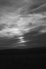 Sunset 3 (simoneandginko) Tags: victoria roadtrip volcano mountain trees fog sunset monochrome