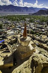 Ladakhi cityscape (Photox0906) Tags: india asia ladakh leh jammuandkashmir himalaya himalayan mountain cityscape panorama panoramic city urban summertime buddhist chorten gompa vertical buddhism range ladakhi