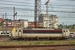 SNCB Belgian Railways Siemens electric loco No. 1841 at Brussels on 28 Aug 2019 (Trains and trams eveywhere) Tags: siemens sncb belgium benelux railways trains brussels locomotive electric yard bruxelles