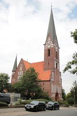 Flensburg: Evangelische Kirche St. Jürgen in Jürgensby (Helgoland01) Tags: flensburg schleswigholstein deutschland germany kirche church gründerzeit gotik gothic tower turm
