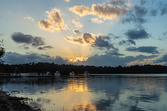 Sunset from Coomba Park Foreshore, NSW (Peter.Stokes) Tags: photography outdoors sky colourphotography boat boating newsouthwales wallislake australia australian au cloud clouds sunset nsw