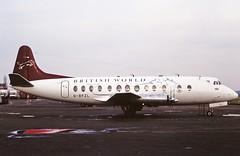 G-BFZL V. Viscount British world CVT 04-03-95 (cvtperson) Tags: gbfzl vickers viscount british world coventry airport cvt egbe