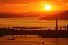 Sunset (Teruhide Tomori) Tags: 香川県 坂出市 瀬戸内海 四国 夕方 日没 日本 kagawa sakaide sunset evening sea japan japon shikoku setoinlandsea landscape 番の州 bannosu