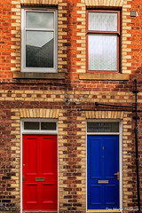 Red and Blue-4971 (Dave_Johnstone) Tags: canoneos70d sigma1750mmf28 door red blue schoolbrae peebles redbrick