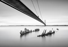 Humber Wreck (Dan Portch) Tags: humber bridge river hul hull yorkshire sea seascape long exposure water black white mono monochrome fine art uk