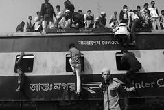 Risky Journey (Murad Visual) Tags: travel riskyjourney dangerous people train blackandwhite photojournalism documentary reportage streetphotography bangladesh hasanmurad estema tongi bishwa ijtema