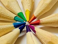 Nine colours (tanith.watkins) Tags: nine macromondays pencils colours numbernine