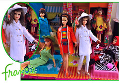 NOTE THE COAT (ModBarbieLover) Tags: francie mod doll mattel 1967 white coat leather 1960s courreges valentino fashion toy