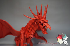 A.D.another (Rydos) Tags: paper origami art hanji koreanpaper korean origamist koreanorigamist paperfold fold folding paperfolding designed design model papermodel korea origamilst kamiya satoshi kamiyasatoshi double color ancient dragon doublecolor ancientdragon red blue black white another ancientdragonanother adanother