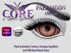 PALE MOON EYES *AMBER* NEW GROUP GIFT (CORE formally Rachel Swallows Creations) Tags: eyes mesh catwa omega gift free groupgift