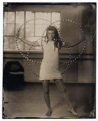 Lottie Lucid (Attila Pasek (Albums!)) Tags: kodakektar portrait hulahoop bw 4x5 127mmf47 analogue girl studio wetplatecollodion woman largeformat collodion ambrotype blackandwhite anniversaryspeedgraphic graflex
