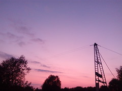 Roads 04 (gemiiniitwiin) Tags: sunset transmissiontowers wires pink blue sky clouds nature landscappe landscape