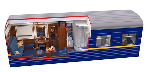 Golden Eagle Luxury Train Club Imperial Suite by day