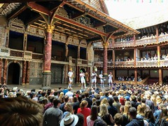 Shakespeare Sunday (esallen52) Tags: theatre shakespeare globe musicians audience people stage performance crowd architecture