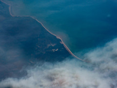 The Edge of One of the Many Fires in Northern Australia (Steve Taylor (Photography)) Tags: fire wildfire coastline blue brown australia north