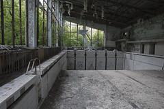 pool (james_drury) Tags: chernobyl pripyat exclusion urbanexploration urbex canonef2470mmf28liiusm pool abandoned ukraine wrecked diving board platform swimming explored ussr soviet union eastern bloc darktourism lostplaces azure
