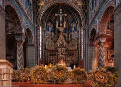 Stadtkirche St.Marien Gengenbach -  Altar (J.Weyerhäuser) Tags: breitnau gengenbach altar erntedank schmuck