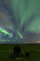 Just the two of us. (Kjartan Guðmundur) Tags: iceland ísland auroraborealis arctic northernlights norðurljós nocturne nightscape nightphotography sky stars house ocean outdoor canoneos5dmarkiv sigma14mmf18art kjartanguðmundur