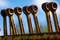 levers (primemundo) Tags: levers push pull pushpull row rusty